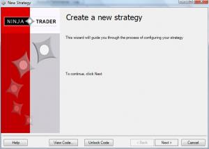 Create a NinjaTrader Strategy